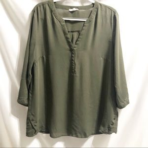 Maurices Olive Perfect Blouse